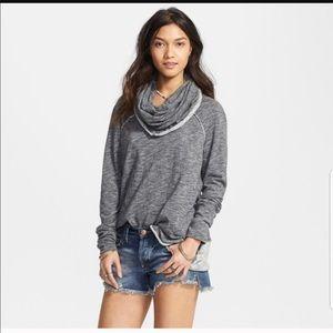 Free People Beach Cowl Cocoon Collar Sweater Top